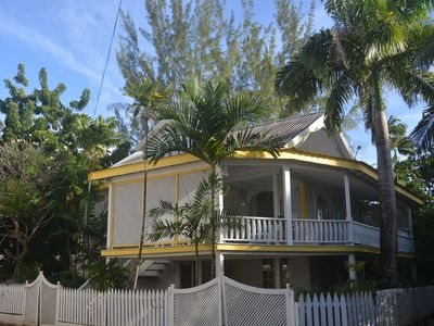 A Caribbean Style seaside home only steps from the beautiful Fitts Village Beach