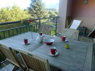 Photo for Apartment in the center of Port-Valais with Lift, Parking, Internet, Washing machine (36993)