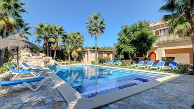 Photo for Les Palmeras is a luxury villa in Mallorca with private pool and large garden, air conditioning, 6 b