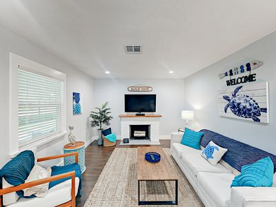 Living Area - This Gulf home is professionally managed by TurnKey Vacation Rentals.
