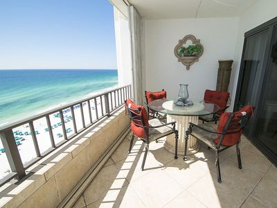 "Photo for ""Breakers East 1204""~Gulf Front 2BR/2BA~Covered Parking~Beach Setup Included!"