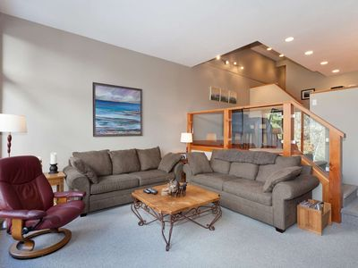 Photo for STUNNING VIEWS + Steps to Creekside GONDOLA. Beautifully Furnished Family Townhome