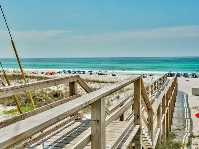 """Photo for ☀3BR Beach Haven☀ 500 Feet to Beach- TWO 65"""" TVs! Comm. Pool- Multiple Balconies"""