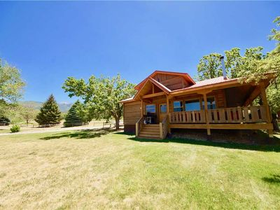 Photo for Pack Creek ~ Orchard House: 3 BR / 2 BA cabin in Moab, Sleeps 8