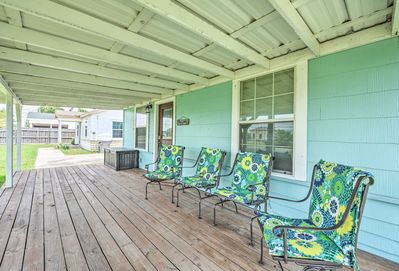 Sit on the deck after a fishing charter or a day on the bay!