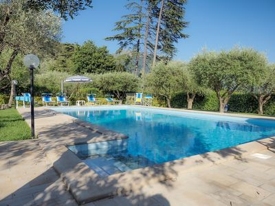 Photo for Apartment with pool for up to 6 people. Garden and terrace,