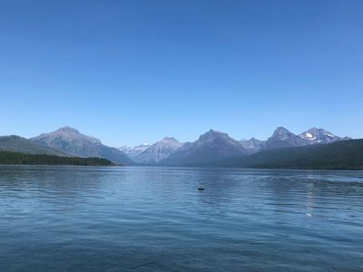 Views from your private beach on Lake McDonald