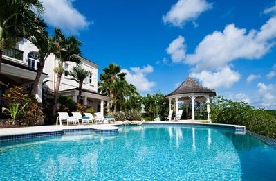 Photo for Villa Overlooking the Tranquil Caribbean Sea, Infinity Pool with Gazebo, Outdoor Dining, Free Wifi