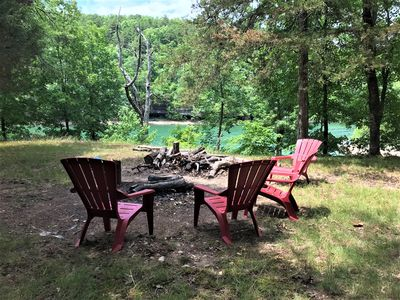Photo for Hide Away Cabin, REMODELED, Waterfront, Waterfall (Wet Weather). Kayaks!, Fire Pit, Covered Deck