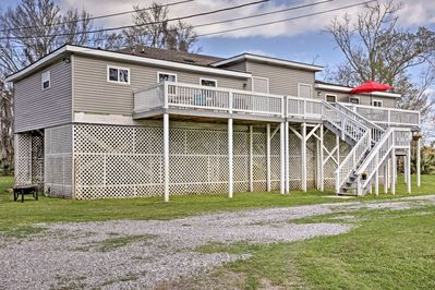 Our one bedroom on the right shares a common deck with our spacious 3 bdroom apt