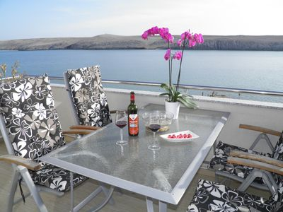 Photo for Island Pag luxury duplex apartment