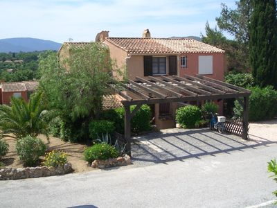 Photo for 3 bedroom child-friendly house, self catering, sleeps 6, large shared pool