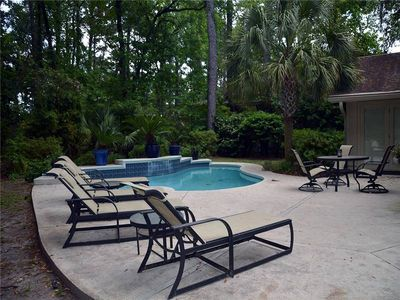 Photo for Sea Pines , updated Home, sleeps 8, dog friendly & private pool