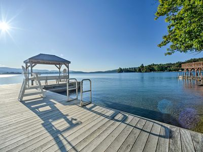 Photo for Charming Home Steps from Lake George Private Beach