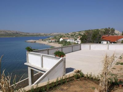 Photo for One bedroom apartment with terrace and sea view Zubovići (Pag) (A-4130-c)