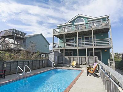 Photo for Turtles Roost: Private pool and hot tub, oceanfront, 7 bedroom, rec room with pool table.