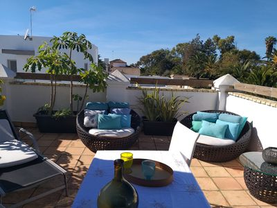Photo for Apartment suite with terrace, garden and barbecue