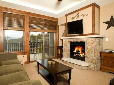Photo for Modern Ski-in/Ski-out Condo + Fireplace & Balcony | Access to Hot Tubs