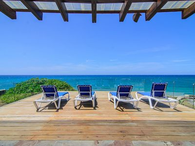 Photo for Sea-views top-floor condo on private beach, 2BD / 2.5BTH with pool