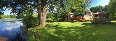 Photo for Large home w/ beautiful gardens on pond in Berkshires. Walking distance to town.