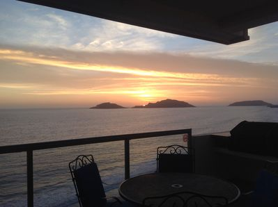 Watch the gorgeous sunsets from the big balcony.