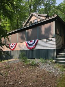 Photo for Updated cabin in the woods with lake view