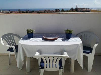 Photo for Apt. cozy with 2 bedrooms, terrace with fantastic sea view, the beach 700m