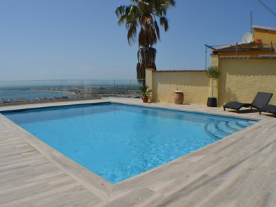Photo for Villa Rosas sea view, private pool, parking - DISCOUNT 14 nights (22/6 AU 6/7)
