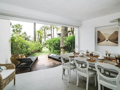 Photo for COS-Luxury 3 bedroom apartment frontline beach - Apartment for 6 people in Estepona