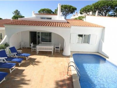 Photo for Luxury 3 bedroom villa, sleeps 6-8 (2 pull-out beds) recently refurbished with private heated pool i