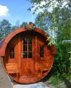 Photo for Stay overnight close to nature - the camping barrel