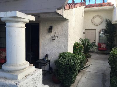 Front view entrance and Master Bedroom Patio