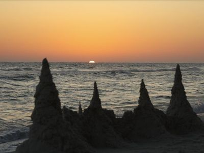 Sunsets and Sandcastles await you at your Beach Vacation Getaway at Tidewater!