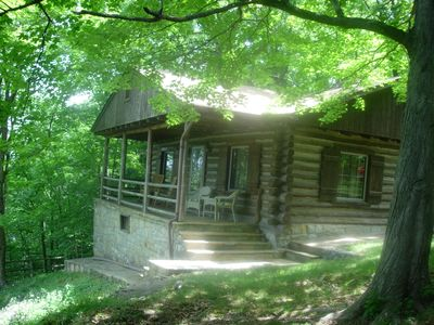 Photo for Log Cabin with a spectacular view of the Shenandoah River and the Massanutten Mo