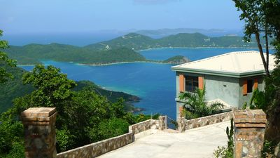Photo for Lunazul - Incredible BVI and Natl. Monument Views - High above Coral Bay