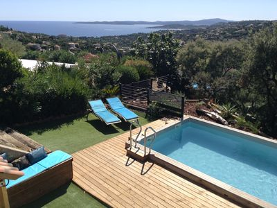 Photo for VILLA SEA VIEW 2. 5 KMS + HEATED SWIMMING POOL - 5 CH 10 PERS 130m2 - WIFI