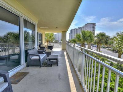 Photo for Spacious Private Balcony On This 2nd Floor Unit With An Updated Kitchen And Lush Furnishings