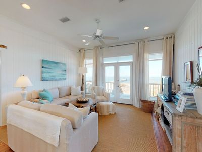 Photo for Exquisite waterfront beach cottage on Dauphin Island on a white sandy beach