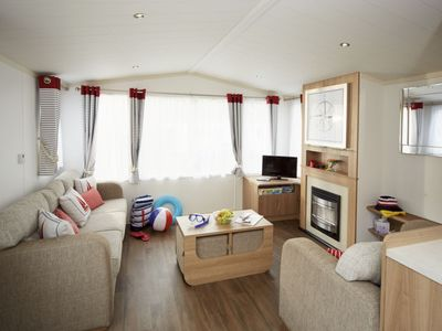 Photo for Holywell Bay Holiday Home, Sleeps 8 with Pool