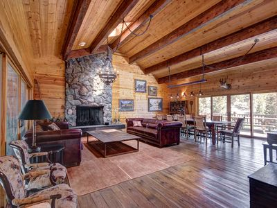 Photo for Peaceful Mountain Lodge On A 640 Acre Ranch- With A New Game Room!