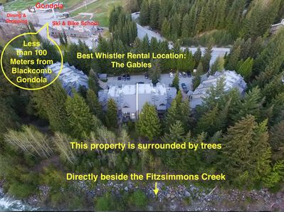 Location is a combination of privacy & proximity. 100 metres from Gondola