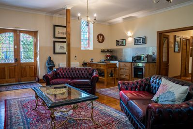 Large Lounge/Kitchen area.  Air-conditioned, 3 couches