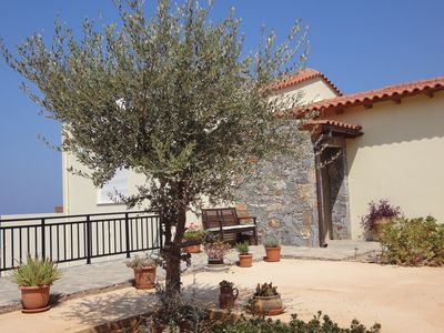 Photo for Villa Elia with swimming pool + panoramic sea, olive grove + mountain views