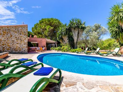 Photo for Stylish finca with mountain views in Cala Mesquida