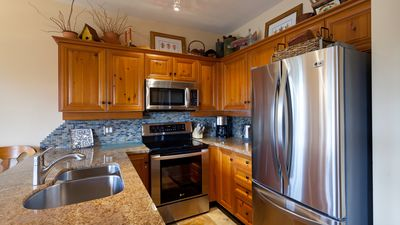 Modern Kitchen with Granite Countertops, Stainless Steel Appliances