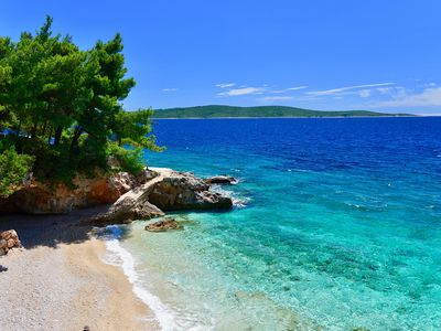 Photo for Modern apartment right on the sea, only about 10m from the beach on the island of Hvar!