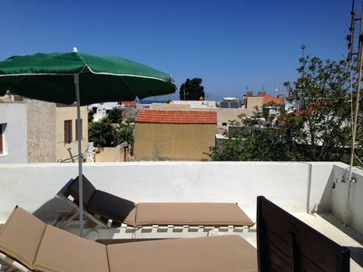 Photo for Medieval city house with roof top terrace sea view-by Rhodes4vacation