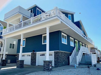Photo for ONLY 2 HOUSES TO THE BEACH!  DIRECT ACCESS  - Views, views views!!] A few blocks walk from all of the restaurants and nightlife, 28 30th Street North is a wonderful beach block house that is only two houses from the beach, has direct access to the promenade and beach, and has views of both the ocean and bay from every room!