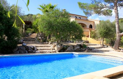 Photo for Incredible villa with pool, Wi-Fi, garden and terraces near the beach in Artá