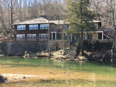 Photo for Historic Limestone House in park setting in Ozarks